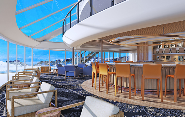 The Lounge on board Viking Octantis