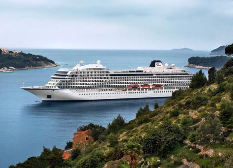 Viking Star sailing near Dubrovnik