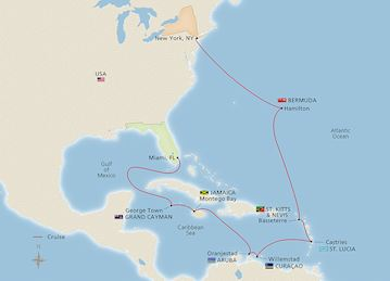 Around the Caribbean Sea Map