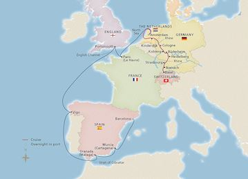 Rhine & Amsterdam to Catalonia