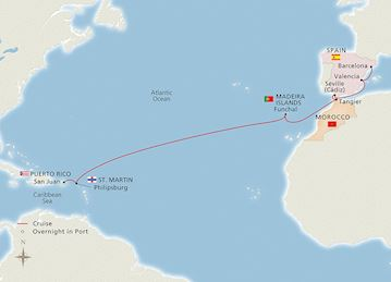 West Indies to Iberia