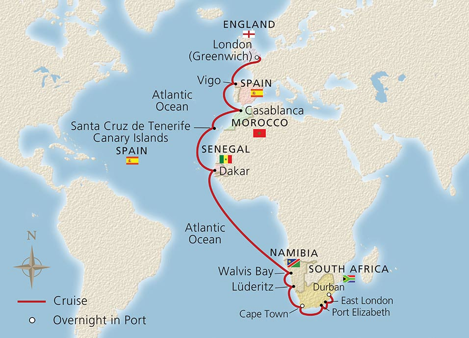 Along Africa S Western Shores Ocean Cruise Overview Viking