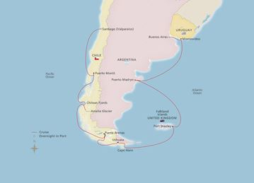 South America & the Chilean Fjords - Cruise Overview