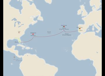 Transatlantic Crossing Map