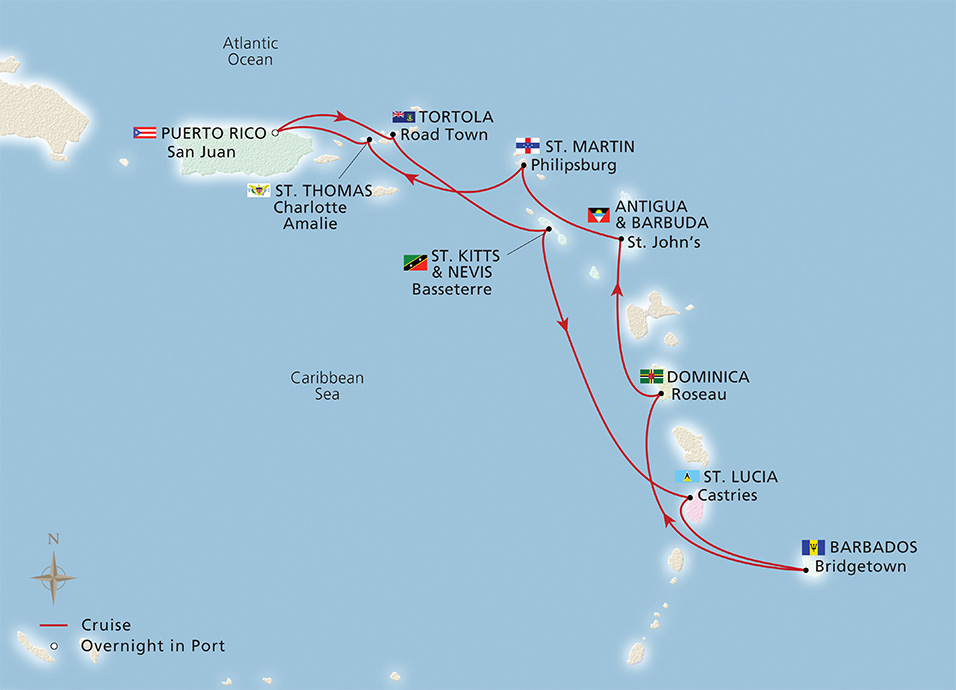 West Indies Explorer Map