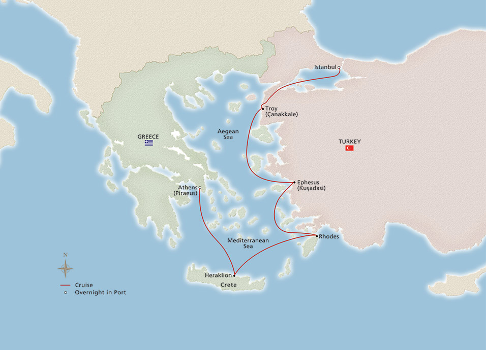 Ancient Mediterranean Treasures - Istanbul to Athens - Cruise Overview