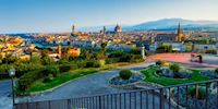 Panoramic view of Florence from Piazzale Michelangelo