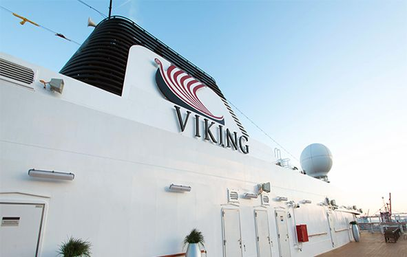 Exterior of navigation area of Viking Ocean vessel