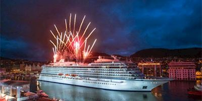 Fireworks display at Viking Star christening