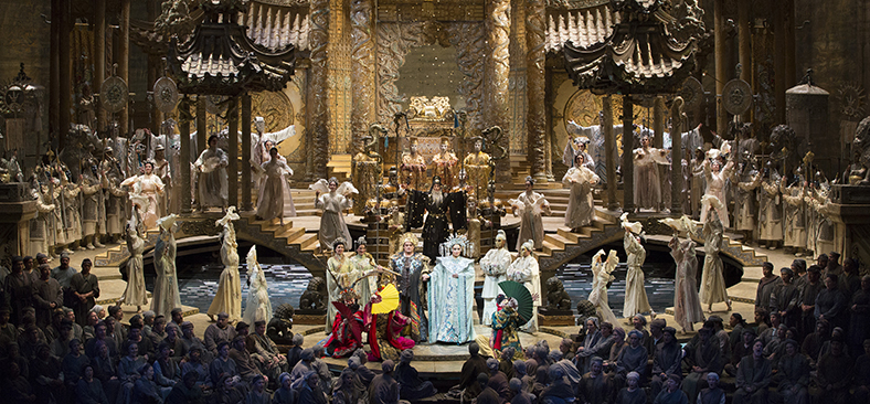 Performance of 'Turandot' from audience